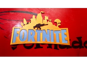 Fortnite-Plaque with-Scar-Gun
