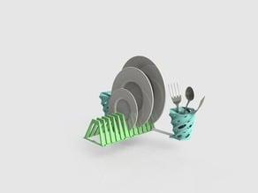 Modular wringer for dishes