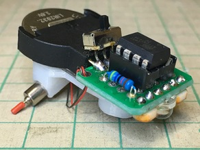 ATtiny13A line follower chassis