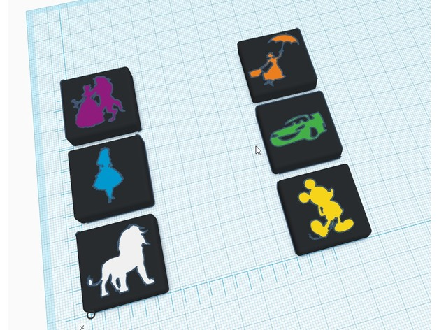 Disney Qwirkle Game Tiles By Jeremytheprintr Thingiverse