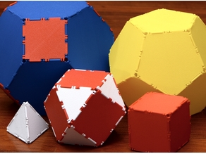Low filament polyhedra construction set