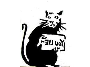 Banksy Rat You Lie Stamp