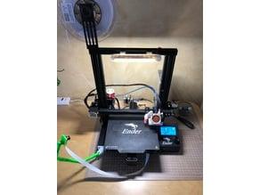 LED Mount / Holder for Ender 3 Printer using 3 strip LEDs, just slide from top side, no screw needed