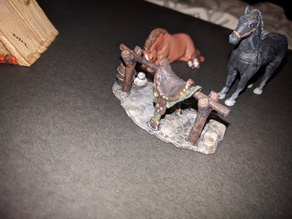 Adventurer's Camp - Horse Tether - 28mm gaming