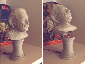 Einstein Bust With Secret Switch