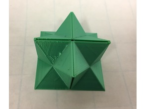 Flexible Stellated Rhombic Dodecahedron Half, Cube Dissection, Rectangular Prism