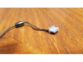 USB C male cap with charm hanger