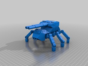 Heavy Artillery 6 legged Ant walker for 28mm wargaming and sci-fi diorma