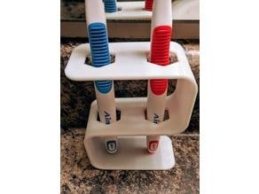 Toothbrush holder for 2