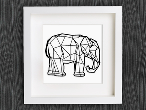 Customizable Origami Elephant