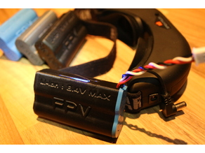 Fatshark 18650 FPV battery Case with LED
