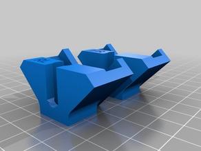 My Customized Adjustable Glass Bed Bracket for FlashForge Creator Pro etc