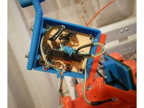 Atmega8A-PU filament monitor with optical encoder for Marlin firmware v2