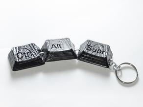 Ctrl + Alt + Supr Keychain