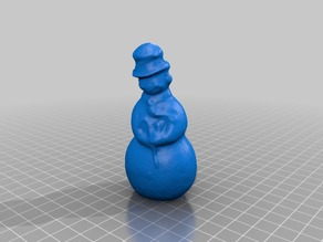 3d scann of old outdoor snowman