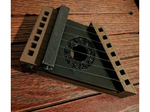 Fully 3D Printed Harp/Zither