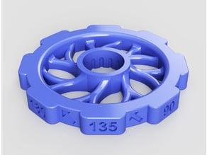 CR10 precision leveling knob