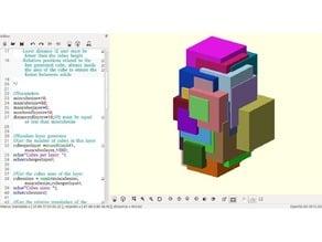 Random Cubic Art Sculptures generator with Openscad