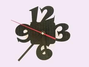 DIY Lasercut or 3D print Wall Clock
