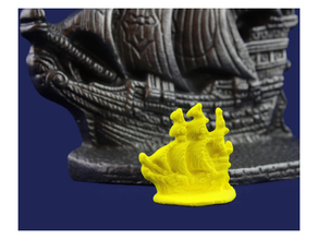 board game piece from 3d scan of cast steel ship