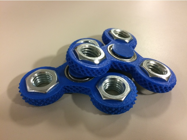 Knurled Tri Spinner Fid Wid Triple Bearing Spinner by