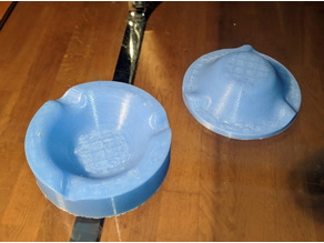 Mould for disposable ashtray