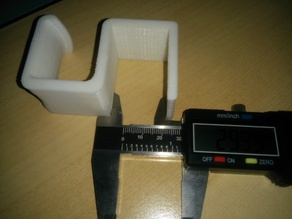Headphone hook for 30mm desk