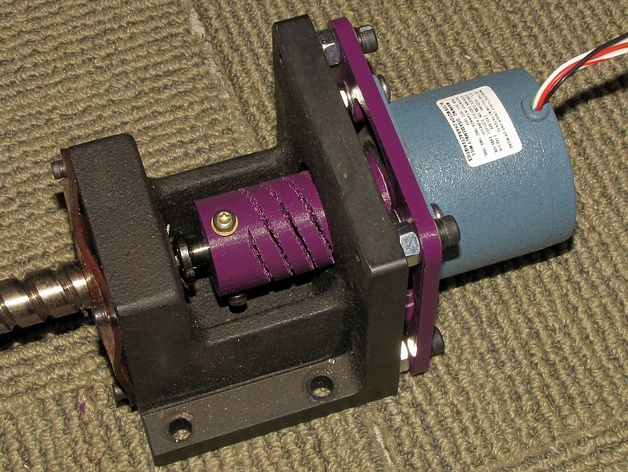Nema 34 mount to nema 23 motor adapter plate by the for Nema 34 stepper motor mount