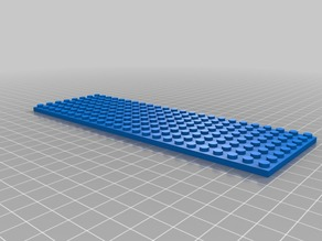 8 by 24 lego compatible baseplate for display cabinets