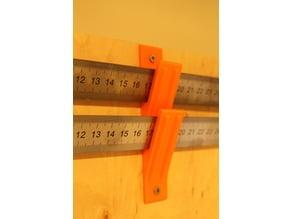 steel rule wall mount