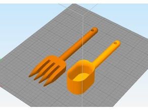 Simple Spoon and Fork