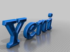 Letters name Yeni