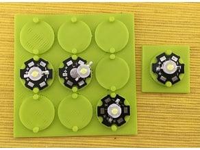 LED heat sink soldering jig