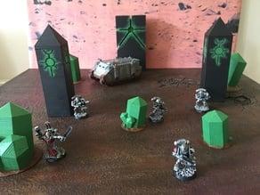 Alien Crystals Scatter Terrain For Min War games 40k Si-Fi Necron Similar