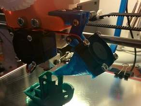 30mm Fan Duct for Prusa I3 with Wades Geared Extruder