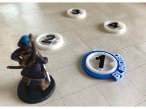 28mm D&D Tabletop Numbered Enemy Tokens