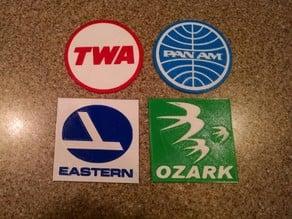 Retro Airline Logo Coasters