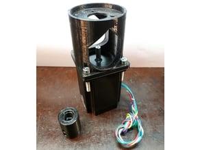HV6 rotary table stepper motor adaptor