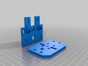 Extended Sunhockey Prusa i3 X-carriage mounting plate