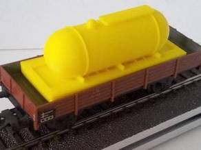 Fuel tank for HO model train