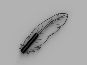 Feather / quill shaped pen cap