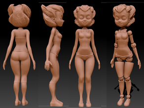 Action Figure Girl - Posable!