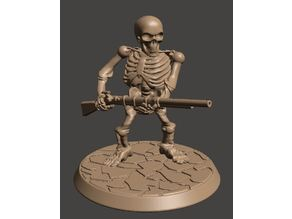 28mm Dwarf Skeleton Warrior with Musket