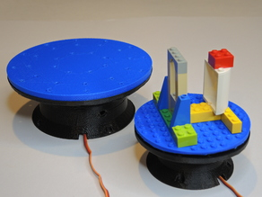 Motorized Turntable with Magnetic Attachment Plates