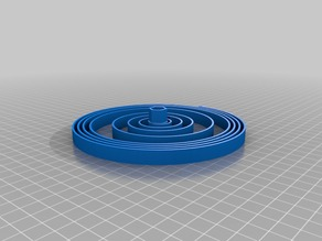 3D Printed Watch Mainspring for Smaller Print Beds (UNTESTED)