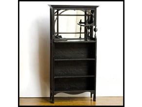 Victorian Mirrored Bookshelf - 12:1 doll house scale