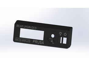 Prusa i3 MK3 LCD Cover with additional Slots for Switches (multi-color)