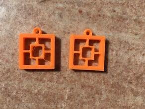 Square Positive Earring Set