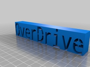 OverDrive Name Plate