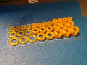 Customizable round spacer variety pack